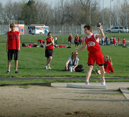 Alex Shotput<br /> April 21, 2008<br /> East Tipp vs Southwestern Middle Schools<br /> Track & Field Meet