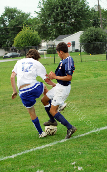 Varsity High School Soccer<br /> September 13, 2008<br /> Harrison Raiders vs Frankfort Hot Dogs<br /> Soccer Game at Frankfort High School