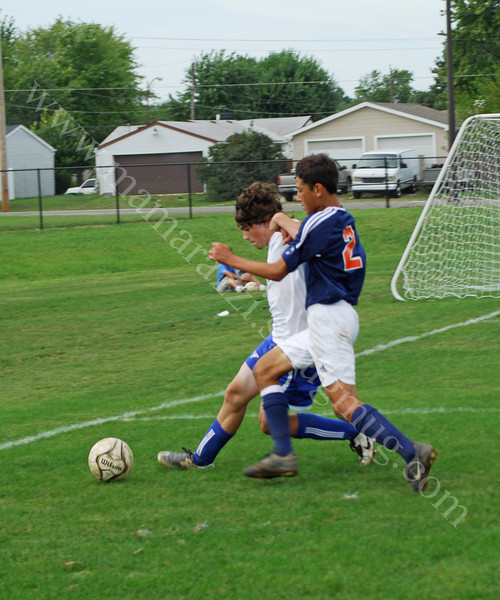 Varsity High School Soccer<br /> September 13, 2008<br /> Harrison Raiders vs Frankfort Hot Dogs<br /> Soccer Game at Frankfort High School