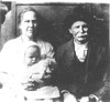 Mary Clyde Parker Clanton (10-7-1900 - 6-3-1961), second wife of G. W. Clanton, with baby, Alonzo W. Clanton (12-17-1917 - d 1-26-1970), and George Washington Clanton (1-1-1855 - 3-22-1937)