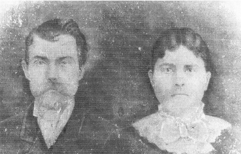 George Washington Clanton (1-1-1855 - 3-22-1937), Ester Ann Margaret Connell Clanton (9-18-1855 - 5-5-1906)