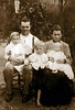 John Connell and Francis (Babe) Barber Connell with Children c 1907 (Photo courtesy of Faith Noles)
