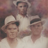 The Cooper brothers; Dewey, top; Albert, left; and Chester, right.  They were the sons of John W. Cooper and Kizzie Brogdon Cooper.