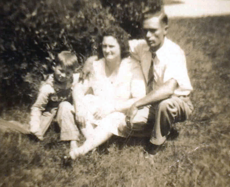 Dewey and Mary Lanier Cooper with their son, Johnny about 1941.