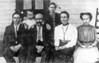 King David Cowart Family<br /> Front row, left to right: Addie Mitchel Cowart, King David Cowart, Golie Alexandra McCormick Cowart, Gertrude Cowart Jefferson.<br /> Back row, left to right: Terrekk Cowart, Ollie Mae Cowart Hayes.<br /> Photo courtesy of Joan Sirmans