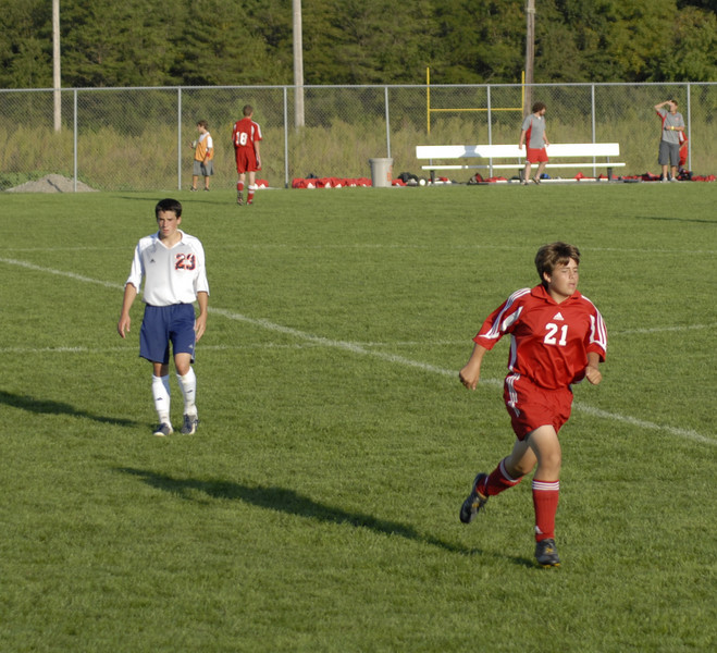 September 18, 2008<br /> High School JV Soccer Game<br /> Harrison Raiders vs West Lafayette Red Devils
