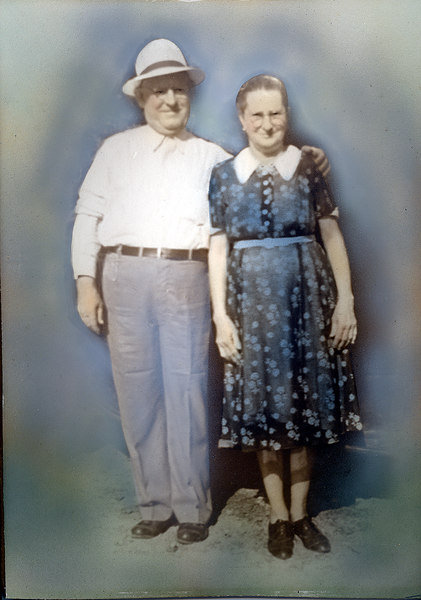 John F. Davis and his wife Rhoda Griner Davis about 1940