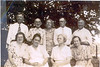 Devane and Parrish Family gathering in the Lois Community  about 1940. Front row left to right: Kate Cook, Beulah DeVane, Mamie Parrish, Lena, Parrish. Back row left to right:Jim Cook, Tobe DeVane, Daisy Kennedy, Leonard Parrish, Shellie Parrish.