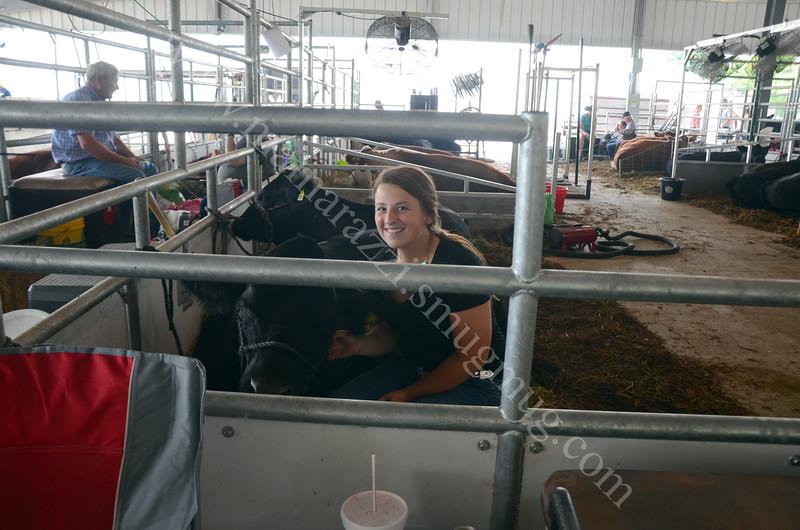 Faith at the cattle barn, Tippecanoe County Fair