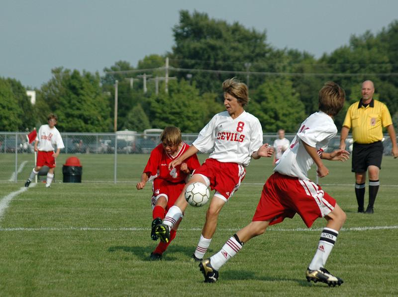 August 20, 2008<br /> High School Soccer <br /> Junior Varsity Team<br /> West Lafayette Red Devils vs Pike