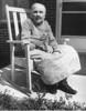 Cora Vick Faulkner probably - in rocking chair 1960s - JC