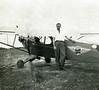 Thomas G. (Pig) Futch taking flying lessons probably Nashville, Ga., circa 1947.