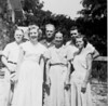 J. Henry Gaskins with wife, Hattie Mae, with two daughters and sons-in-law