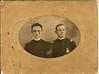 Alva Gaskins, right, and his sergeant major, North Georgia Agricultural College, Dahlonega, Georgia, circa 1905.