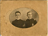 Alva Gaskins, right, and his sergeant major, North Georgia Agricultural College, Dahlonega, Georgia, circa 1905.
