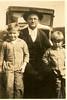 Alvah Gaskins with sons, A. W. Gaskins, Jr., and Robert Gaskins, circa 1930. Alvah W. Gaskins died 18 November 1934.