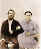John W. Gaskins, son of William and Jane (McMillan) Gaskins, with wife, Margaret (Paulk) Gaskins.