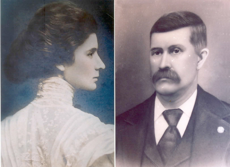 Benjamin Gray and his wife Ellen. Benjamin operated a sawmill at Pinebloom about a mile from Willacoochee. He was also the owner of the OP&V Railroad, and principal owner of the Nashville Sparks Railroad.