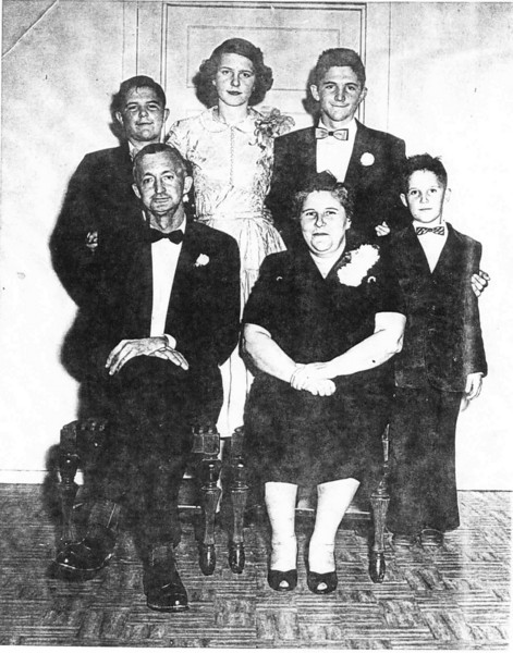 "Charlie and Lessie Ina ""Bill"" Nix Gray with children, Russell Gray, Frances Gray, Lamar Gray, Henry Gray<br /> Photo courtesy of  Frances Gray Plair"