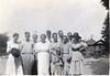 Bessie, third left, Maggie, fourth left, Ruby Griner, third right.<br /> Photo courtesy of Leuna Kent