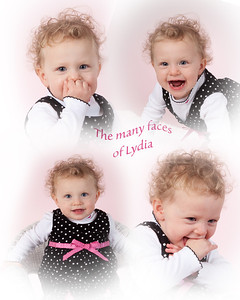 lydia faces collage