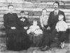 William Henry Griffin Family. Left to right: Ellen D. Griffin, Owen, Bessie (baby), Edgar, Homer, William Henry Griffin. Photo courtesy of Carolyn Peters Griffin