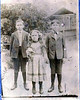 """Frank, Charlie Ruth, and Bob Griffin, children of William """"Hass"""" and Rebecca Jane Parrish Griffin; probably taken about 1903"""