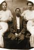 Joel Jack Hancock with daughters, Bessie and Cassie Hancock c 1905 (Photo courtesy of Faith Noles)