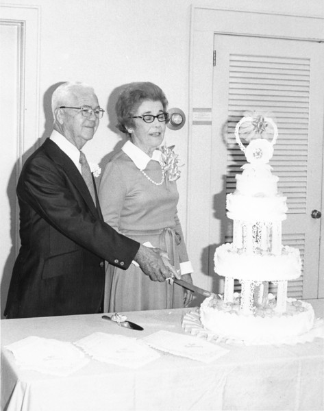Mr and Mrs P A Harris Sr 50th Anniversary