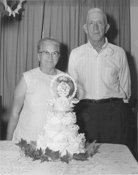 Mr. and Mrs. Clarence Hayes, 50th Anniversary