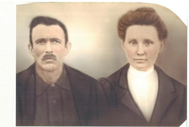"""John """"Frank"""" Ingram and Florance (Smith) Ingram. Frank was adopted by the Ingrams; he was born John Frank Andrews. Florance is the daughter of Mack and Josephine and the granddaughter of John A. Ball and Mary (Owens) Ball. (Courtesy: Carolyn Greer)"""