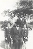 Seated, Irvin Jones, flanked by Ellen and Helen Weeks both 4 years old.<br /> Standing Ina Jones, and Fisher Jones. Katty Mae Jones Weeks passed away at the birth of the twins.<br /> Photo taken in April 1943.