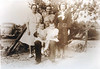 5 Generation photo taken in 1942<br /> William Jasper Rowan<br /> Hattie Wheless, sister of Rachel and mother of Mary<br /> Mary Jones, mother of Katty Mae Jones<br /> Ina Jones, standing in for Katty Mae Jones Weeks who passed away with the birth of the twins<br /> Helen and Ellen Weeks, twins of Katty Mae Jones Weeks