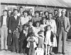 The Fisher and Mary Griffin Jones family, about 1952.<br /> Three front row children left to right: Darlene Jones, Gail Moore, Barbara Hendley<br /> Second row children left to right: Billy Jones, Jr., Iris Moore, Randal Jones, Jeanie Hendley, Marjorie Ann Jones<br /> Top row, left to right: William Jones, Martha Jones, Christine (Scarborough) Jones, Eugene (Gene) Jonoive, Mary Wilma (Chambless) Jones, James Billy Jones, Sr., Ina Jones (Hendley),Willard Hendley, Mamie Lee (Jones) Moore, Mary (Griffin) Jones, Charles Moore, and Fisher Jones.