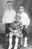 Children of Abe Levin about 1921, oldest to youngest: Leon, Morris, Charles.