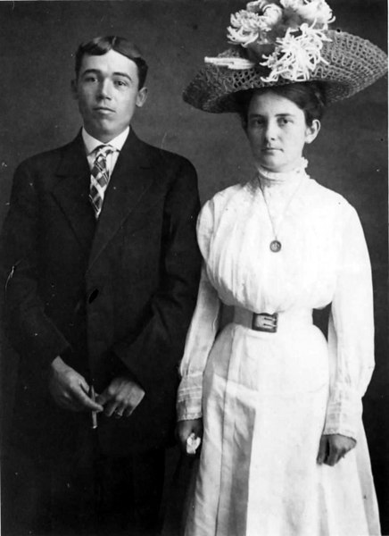 Jim and Verdie Baskin Lovejoy, about 1912. Photo courtesy of Frances Lovejoy Moorman