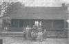 "Richard Flem ""Dick"" Luke and Family in front of their cabin home. Left to right: Edd, Eliza, Marintha, Lizzie, Willie, Dick holding Cleo, Mag holding G.P. and Ethel.<br /> Dick is the great grandson of Daniel M. Luke, Sr.<br /> Photo and identification courtesy of Ray Luke"