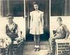 Children of Henry Matthew Lynch and Nancy Bahila Gibbs Lynch. Left to right, James E. Lynch, Geneva Bahila Lynch, and Harold A. Lynch. Photo taken at the Clyatt farm on the Alapaha Road about 1939.