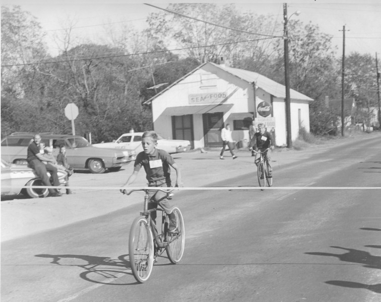 Randy McCorvey wins bike race Nov 1969