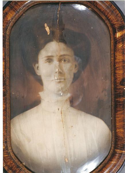 "Mary Lamanda ""May"" McKinnon, daughter of Reddick Charles and Carrie Ann Jane (Goodman) McKinnon, b. 1891, d. 1974."