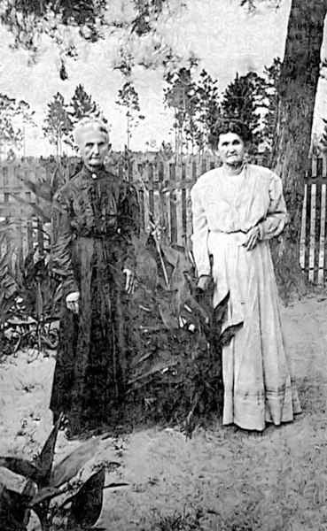 Sarah McKinnon McRae (born 1844) (wife of William Oliver McRae),  and Laura McKinnon (born 1855), daughters of Lauchlin and Mary Ann Pierce McKinnon, and sisters of Reddick Charles McKinnon.