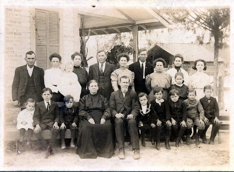 John J. McMillan and Millie Fletcher McMillan family about 1910