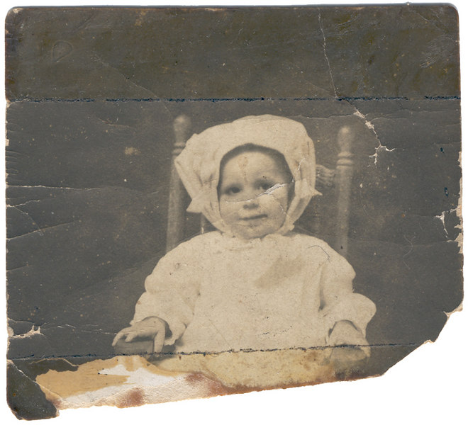 Bertha Pitts Meyer about 2 years old.