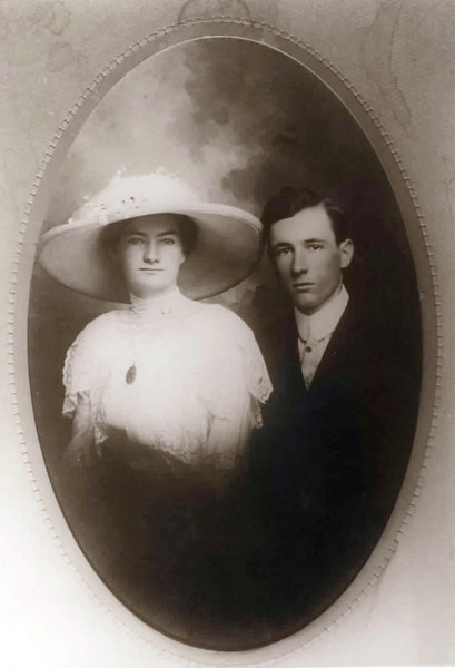 W. L. Miller and his bride Lena Lee Miller circa 1908. Photo courtesy of Jane Miller