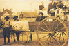 Group riding in oxcart owned by William E. Morris<br /> Identifications and year of photo needed.<br /> Photo courtesy of Olivia Matthis Boyett
