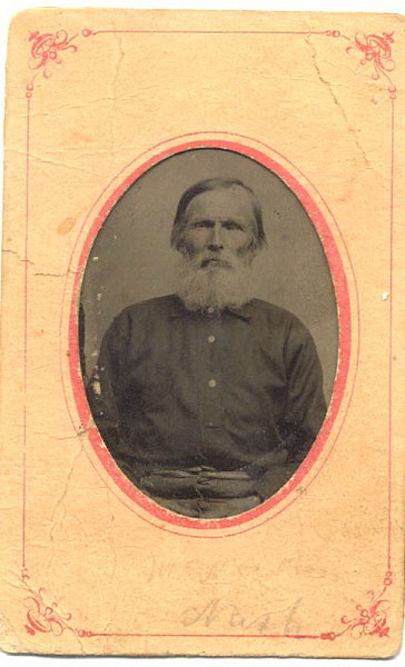 Newton Nash (1828-1903), father of Olive Nash Griner. He came to Berrien County about 1850 and bought 1100 acres near Flat Creek. His first wife, Lucy Ann Royals, is buried at Flat Creek Church Cemetery.(Courtesy: Diane Pate)