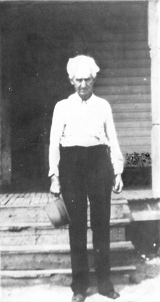 """Thomas Jefferson """"Jeff"""" NeSmith, born 16 December 1861, died 28 September, 1938. He married Georgia McKae, Belle Clements, and Cora Lilla Forehand. He is buried at Pleasant Cemetery, Cecil Road, Berrien County, next to his 3rd wife, Cora Lilla Forehand."""