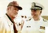 Charles L. Neugent, US Navy with John Wayne