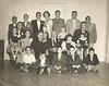 "20 of 27 grandchildren at the 50th Wedding Anniversary of Nancy and Joe Nix in 1953.<br /> Front Row: Wilson Nix, Wayne Nix, Alvin Culverhouse, Henry Gray, Billy Bob Nix <br /> Second Row: Harriet Morton, JoAnn Culverhouse, Nancy Swain Nix, Joe Varn Nix, Dottie Nix Judy Nix<br /> Third Row: Russell Gray, Jerry Don Morton, Steve Culverhouse, Guy Maddox<br /> Fourth Row: Robert Culverhouse, Jimmy Morton, Lamar Gray, Frances Gray, Billy Culverhouse, ""Buck"" Nix, Joe Harry Morton<br /> Photo courtesy of Frances Gray Plair"