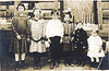 "Nix children:<br /> Annie Lee Nix (Maddox), Eula Mae Nix (Devane), Joe Brown Nix, Lessie Ina ""Bill"" Nix Gray, James Robert ""J. R."" Nix and Elnita Nix (Culverhouse)<br /> Photo courtesy of Frances Gray Plair"